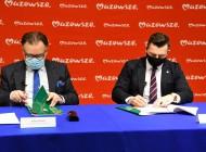 Podpisanie umowy naprzebudowę komunikacji imodernizację Placu Anny Jagiellonki orazaneksu naprzebudowę irozbudowę przedszkola.