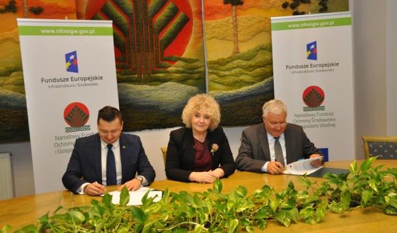Podpisanie umowy na dofinansowanie budowy kanalizacji
