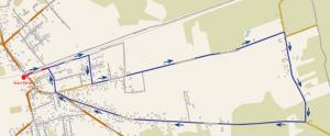 Mapa majówki zbiegami