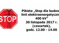 """Pikieta """"Stop dla budowy linii elektroenergetycznej 400 kV"""""""